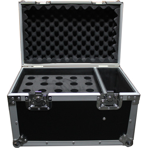 ProX Microphone Case (Holds 20 HandHeld Microphones with Side Storage)