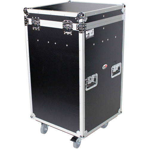 ProX ATA 300-Style Flight Case with Casters for 25 Microphone Stands