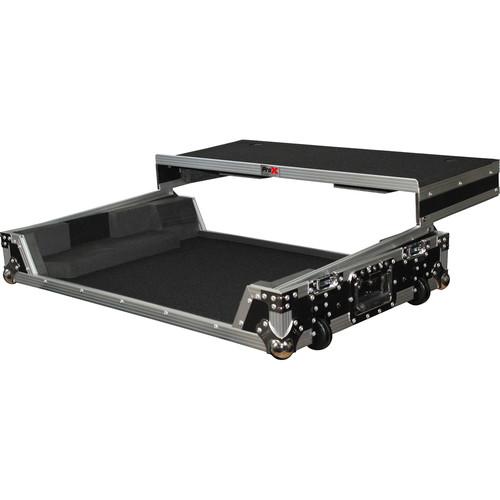 ProX Flight Case with Wheels & Laptop Shelf for Numark NS7III & NS7II Digital Controller