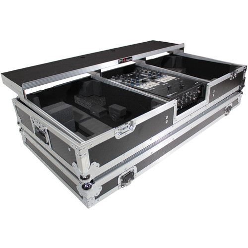 ProX DJ Coffin Flight Case for RANE DJ Seventy-Two Mixer and Two Turntables (Silver on Black)