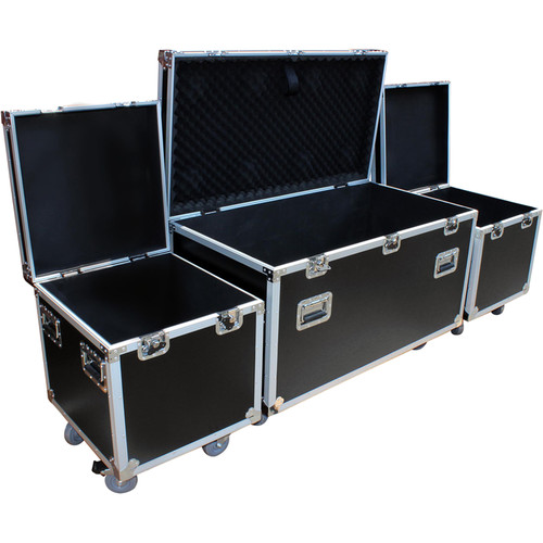 ProX ATA-Style Utility Road Case (1 x Large and 2 x Half Size)