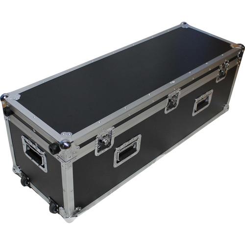 ProX Heavy-Duty Long Utility Flight Case with Wheels (Black)