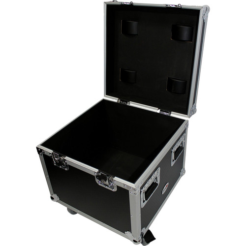 ProX Heavy-Duty Utility Flight Case with Casters (Black)