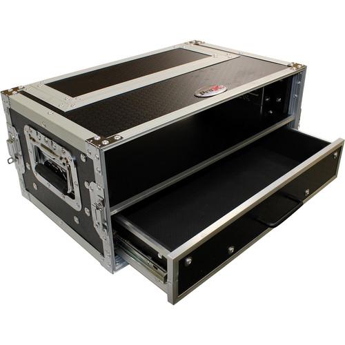 ProX 2-RU Rack Case with 2-RU Rack Drawer (4 RU)