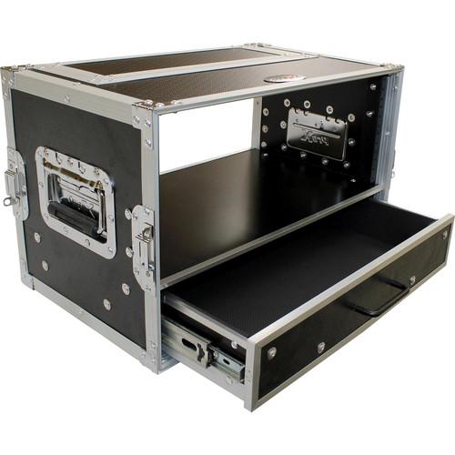 ProX 4 RU Rack Case with 2 RU Rack Drawer (6 RU)