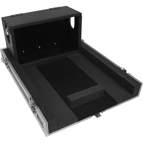 ProX Heavy-Duty Flight Case with Doghouse and Wheels for Yamaha QL1 Studio Mixer Console (Silver on Black)