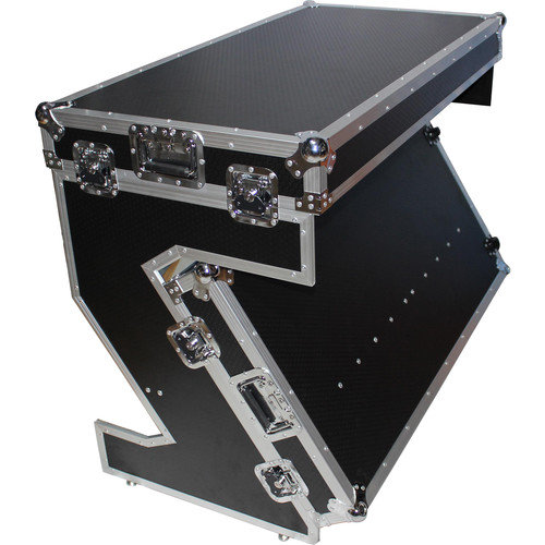 ProX Portable Z-Style DJ Table Flight Case with Handles & Wheels