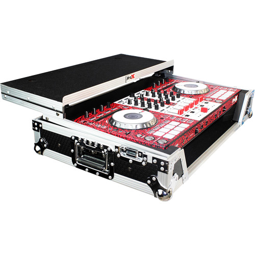 ProX Flight Case For Pioneer DDJ-SX & DDJ-SX2 Controllers with Laptop Shelf and Wheels