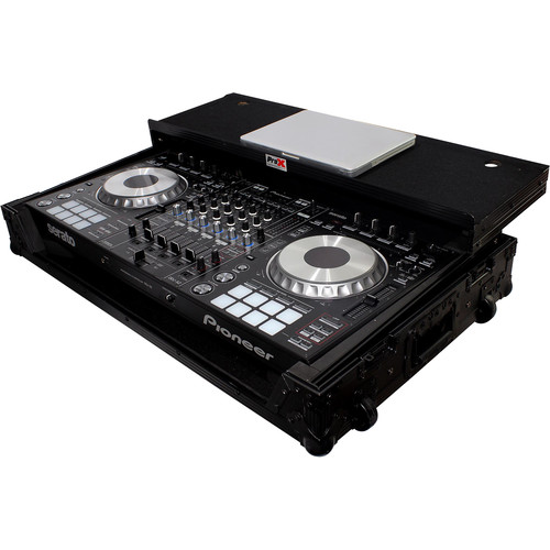 ProX Flight Case for Pioneer DDJ-SZ and DDJ-SZ2 Controllers with Laptop Shelf and Wheels (Black on Black)