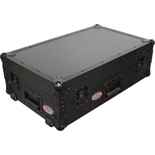ProX Flight Case For Numark MixDeck Quad Controller with Laptop Shelf (Black-on-Black)