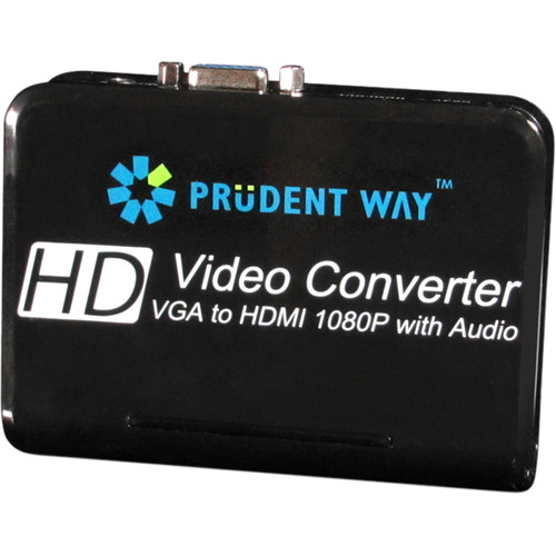 Prudent Way VGA to HDMI Video Converter with Audio