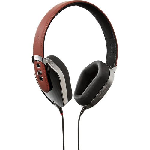 Pryma Leather & Aluminum Headphones (Carbon Marsala)