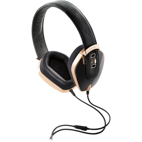 Pryma Leather & Aluminum Headphones (Heavy Gold)