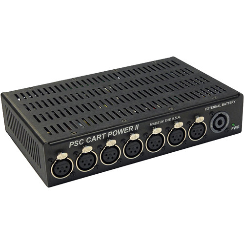 PSC Cart Power II Power Distribution Unit with Seven 4-Pin XLR-F Output