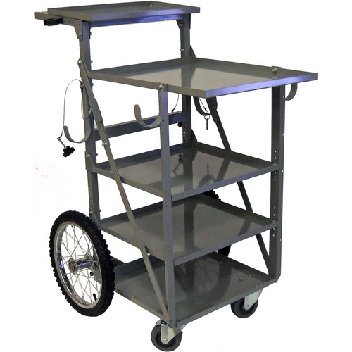 """PSC Extended Shelf Sound Cart with 18x23"""" Top Shelf"""