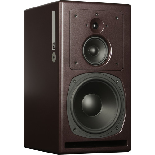 PSI AUDIO A25-M High-Powered 3-Way Studio Monitor (Single, Red)