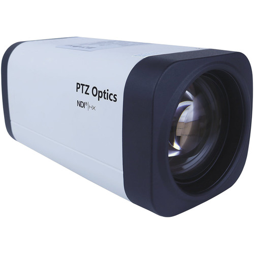 PTZOptics 12X 1080P NDI/HX, HD-SDI Box Camera  (White w/US Style Power Supply)