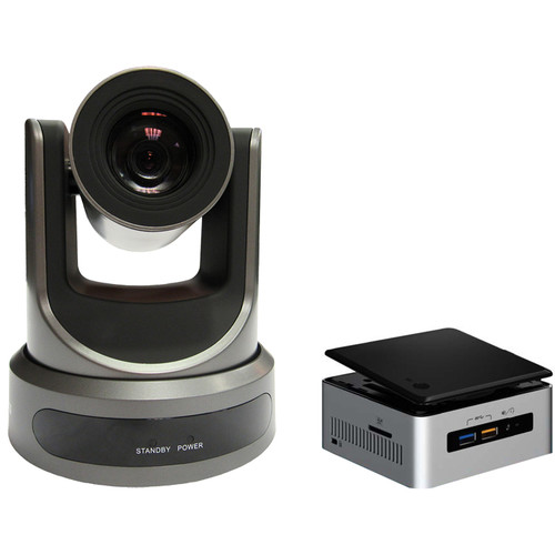 PTZOptics 20x-SDI Camera and Dycap PerfectTrack Kit (Gray)