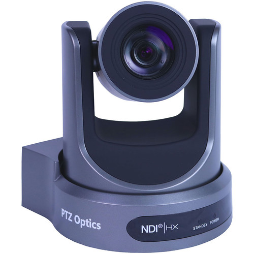 PTZOptics 30X-NDI Broadcast and Conference Camera (Gray)