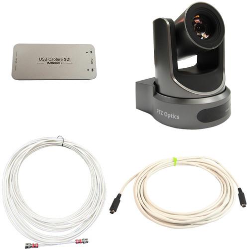 PTZOptics Accessory Kit with 20x-SDI Live Streaming Camera