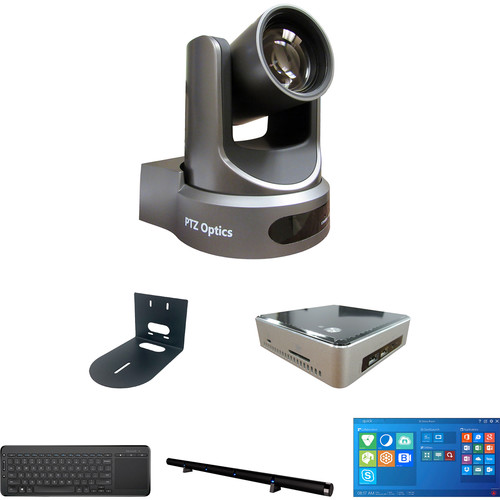 PTZOptics TEAM Video Conference Calendar Edition Kit with 12x-USB Gen2 PTZ Camera, PC, & Microphone