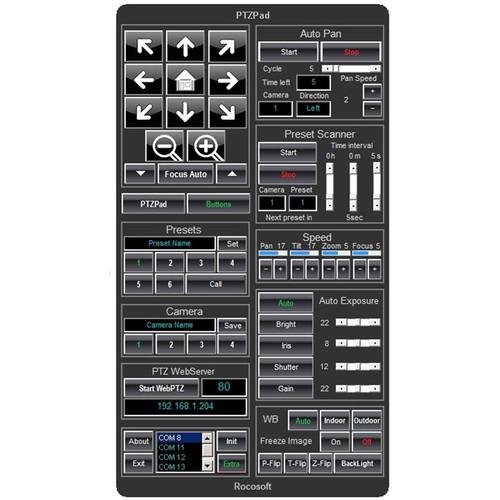 PTZOptics VISCA Control Software