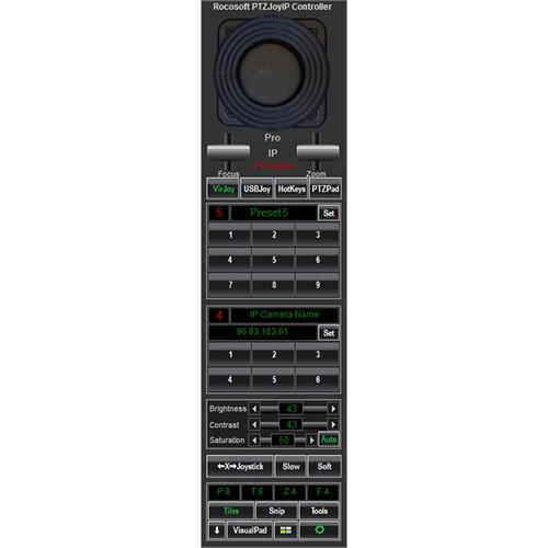 PTZOptics Rocosoft PTZJoy IP Pro Camera Control Software for PC