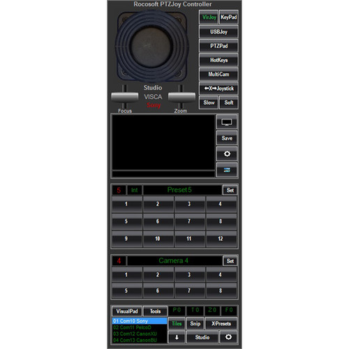 PTZOptics Rocosoft PTZJoy Studio Serial Port Camera Controller for PC