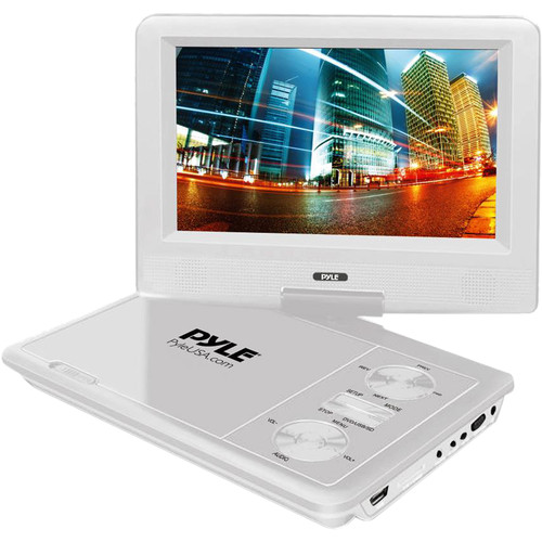 "Pyle Home 7"" Portable DVD Player (White)"