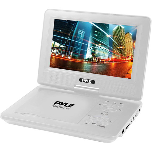 "Pyle Home 9"" Portable DVD Player (White)"