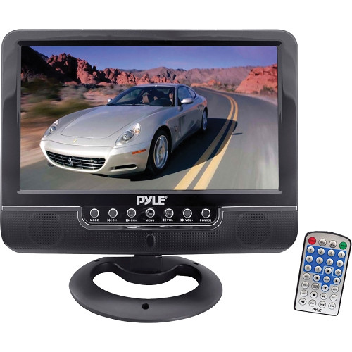 Pyle Home PLMN9SU 9'' Battery-Powered LCD Monitor with MP3/MP4/USB/SD/MMC Card Player