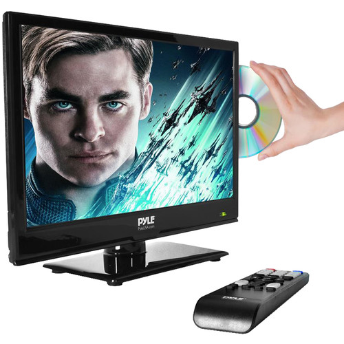 """Pyle Home PTVDLED16 15"""" Class HD LED TV with Built-In DVD Player"""
