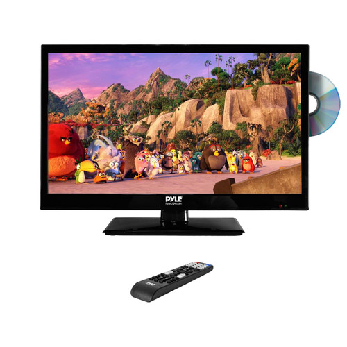 "Pyle Home PTVDLED24 24"" Class Full HD LED TV with Built-In DVD Player"
