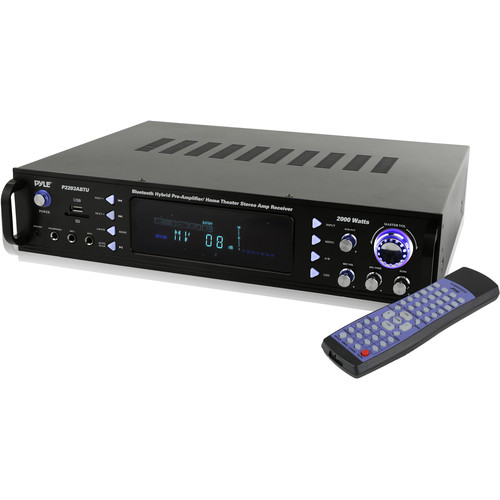 Pyle Pro 2000W Powered Hybrid Preamplifier Stereo Receiver with Bluetooth