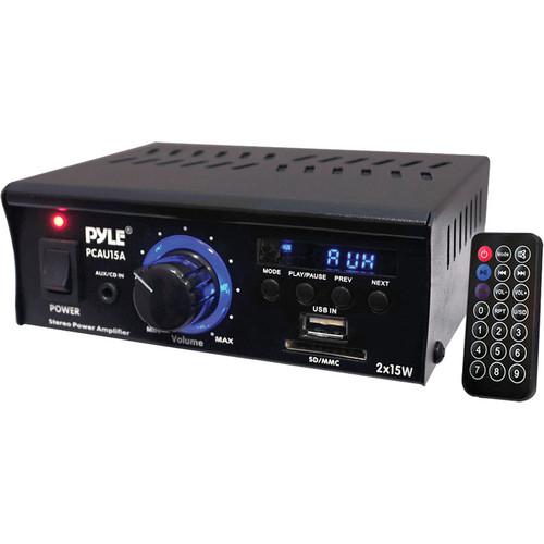 Pyle Pro PCAU15A Mini 2x15 Watt Stereo Amplifier