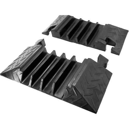 Pyle Pro Cable-Protector 4-Channel End Cap (Pair)