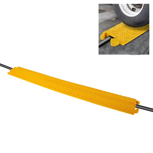 Pyle Pro PCBLCO101 Cable Protector Concealment Ramp (Single-Channel Track, Yellow)