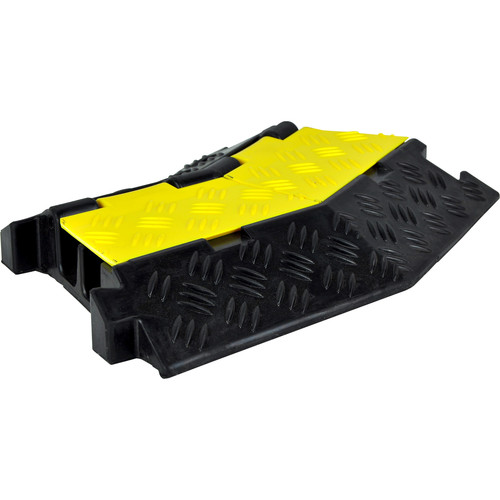 "Pyle Pro PCBLCO34 Two-Channel Right-Turn Cable Protective Cover Ramp (10.6 x 14.6"")"