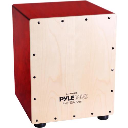 "Pyle Pro Stringed Jam Cajon Wooden Percussion Box (Birch Wood, 15"")"