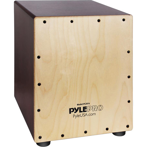 Pyle Pro Stringed Wooden Jam Cajon Percussion Box with Sound Hole