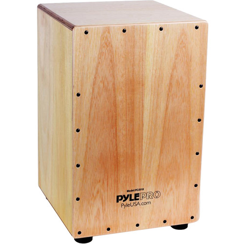"Pyle Pro Stringed Jam Cajon Wooden Percussion Box (Birch Wood, 18"")"