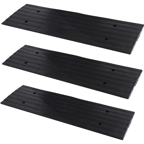 Pyle Pro Vehicle Driveway Curb Ramp (3-Pack)