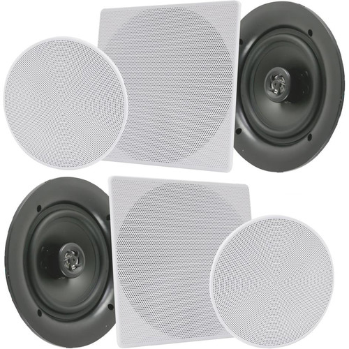 """Pyle Pro 10"""" In-Wall/In-Ceiling 300W Stereo Speakers (Pair, White)"""