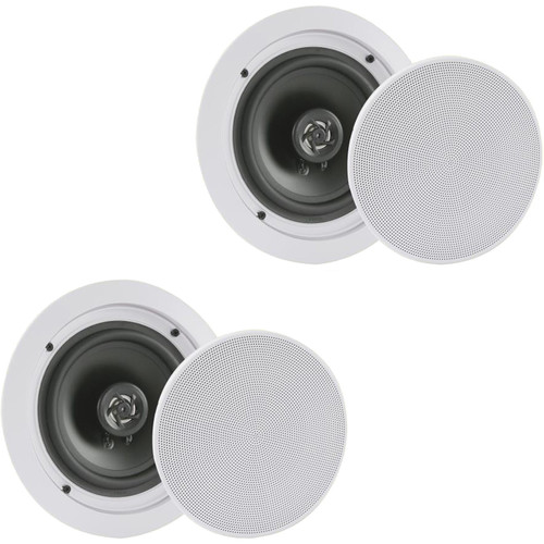 """Pyle Pro PDIC1681RD 8"""" In-Wall/In-Ceiling 250W 2-Way Stereo Speakers (Pair)"""