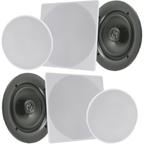 """Pyle Pro PDIC1686 8"""" In-Wall/In-Ceiling 250W 2-Way Stereo Speakers (Pair)"""