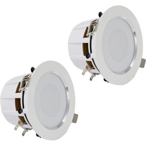 """Pyle Pro PDIC35 3.5"""" Ceiling/Wall 140W 2-Way Aluminum Frame Speakers (Pair)"""