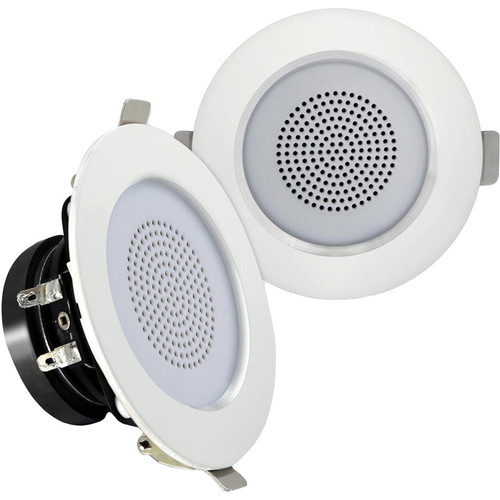 """Pyle Pro PDIC3FR 3"""" Ceiling/Wall 100W 2-Way Aluminum Frame Speakers (Pair)"""