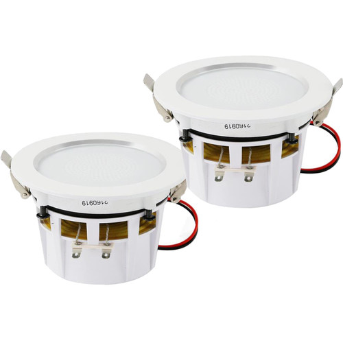 """Pyle Pro PDIC4 4"""" Ceiling/Wall 160W 2-Way Aluminum Frame Speakers (Pair)"""