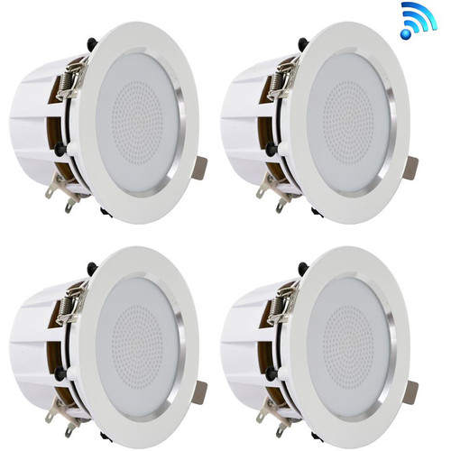 "Pyle Pro PDIC4CBTL35B 3.5"" Bluetooth Ceiling / Wall Speaker Kit (4-Pack)"