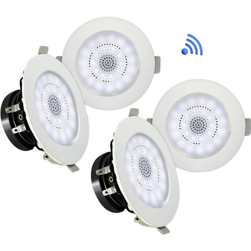 "Pyle Pro PDIC4CBTL3B 3"" Bluetooth Ceiling / Wall Speaker Kit (4-Pack)"